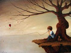 """Прекрасная серия картин """"Одиночество: сны""""   Арт и искусство"""