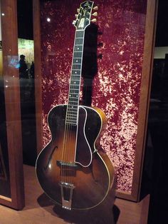 Mother Maybelle Carter's 1928 Gibson L-5 Spanish acoustic guitar....