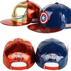 Mens Womens Kids Marvel Avengers Civil War Ironman Captain America Snapback Hats #Marvel #BaseballSnapbackCapHats