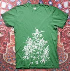 MARIJUANA - High Quality T Shirt POT PLANT Kush Cannabis Sativa WEED Wiz Khalifa