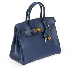40f8cf4d4c4d One Kings Lane - Vintage Designer Bags - Hermès Royal Bleu Ardenne Birkin  Hermès Royal Bleu Ardenne leather Birkin with gold hardware.