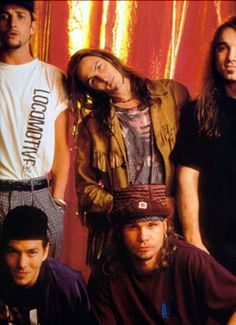 Pearl Jam in the 90s. Funny how badass everyone thought they were and here they look like a boy band.