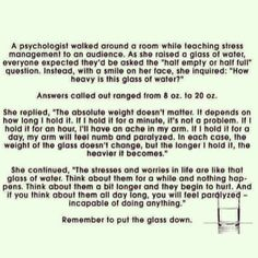 I love this analogy. Perfect representation of health and psychology!