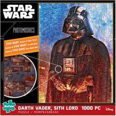 Star Wars Photomosaics Puzzle, Darth Vader, Sith Lord, 1000 Pieces, Multicolor