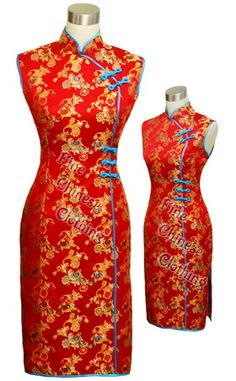 Big picture of Festival Chinese Party Dress - Red