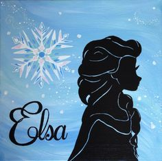 Elsa and Anna Frozen Inspired Silhouette by GingerBoutique2