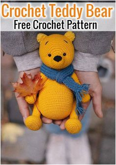 Free Crochet Bear Patterns,Bear Amigurumi Crochet Pattern-I have rounded up a huge list of free crochet teddy bear patterns for you to get inspired by these cute and soft teddy bears. You could absolutely make them with your own crochet hooks. Teddy Bear Patterns Free, Crochet Dolls Free Patterns, Amigurumi Patterns, Crochet Teddy Bear Pattern Free, Crochet Bunny, Free Crochet, Crochet Hooks, Knitted Teddy Bear, Stuffed Animal Patterns