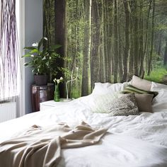 Fun ideas for small spaces - a woodland theme in the bedroom Bedroom Colors, Home Decor Bedroom, Ideas Prácticas, Ikea, Loft, Beautiful Bedrooms, House Rooms, Modern Interior Design, Interior Inspiration