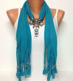 Owl jewelry scarf