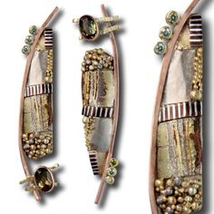 Such a wonderful mix of precious metals and gems. Stunning result from Californian based jeweller Lynda Adrienne Bahr.#diamonds #gold  #contemporaryjewelry #design #earrings  #joyeria #bijoux #schmuck #jewelry #jewellery #style #gems #jewelryblogger #beauty #handcrafted #inspiration #adornment  #mokegane #asymmetrical