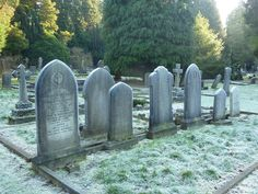 As Cold as the Grave - A frosty morning in West Cemetery, Darlington | Flickr - Photo Sharing!