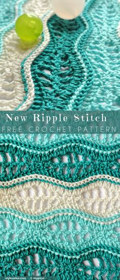 New Ripple Stitch Free Crochet Pattern | DIY