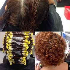 very curly perm on small rods