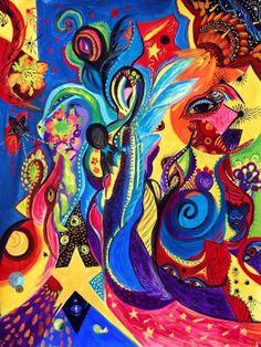 Guardian Angel Abstract Fantasy Spiritual by MarinaPetroFineArt, $39.00  https://www.etsy.com/listing/152129774/guardian-angel-abstract-fantasy