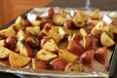 A healthy side dish: roasted red potatoes