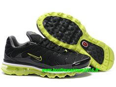 Nike Air Max Tn Requin/Tuned +2009 Chaussures Basket pour Homme Noir/Vert