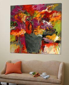 Colours of wind Loft Art by Doris Savard. Find art you love Floral Wall Art, Art Abstrait, Abstract Flowers, Acrylic Art, Botanical Art, Painting Inspiration, Find Art, Flower Art, Canvas Art