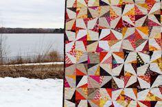wonky pinwheel quilt by greenleaf goods, via Flickr