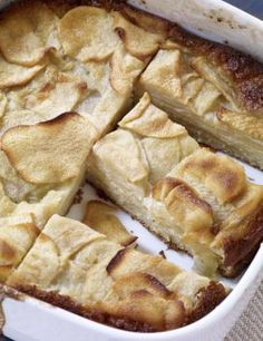 Dorie Greenspan's Famous Custardy Apple Squares