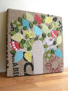 Jenny Bartoy: custom burlap art | Flickr - Photo Sharing!