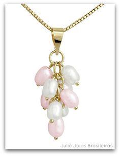 Pendente em ouro 750/18k e pérolas ( 750/18k pendant with pearls)