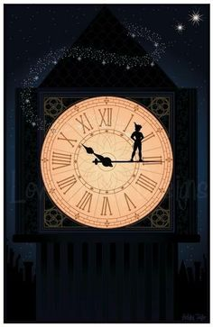 Peter Pan Clock Tower (I want this on a canvas)