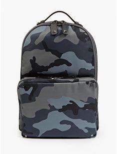 Valentino Men's Camouflage Print Backpack   oki-ni