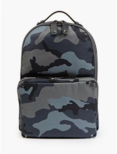 Valentino Men's Camouflage Print Backpack | oki-ni