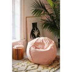 Exposed Seam Bean Bag Chair ($69) ❤ liked on Polyvore featuring home, furniture, chairs, oversized bean bag, oversized chair, bean-bag chair, urban outfitters chair and urban outfitters