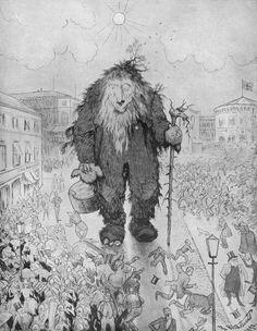 Troll - troll paa carl johan 01c - Theodor Kittelsen