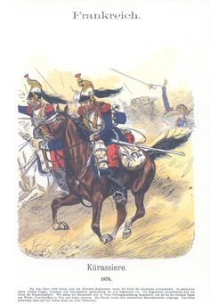 French Cuirassiers at the charge   VOL XVII Pl 40