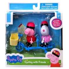 Peppa Pip Peppa and Suzy Sheep Bicycling Figures Pack