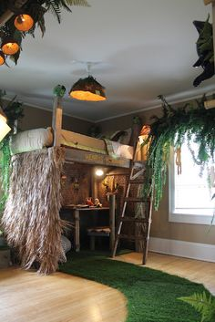 my son likes the loft idea, just not the jungle theme maybe surfer