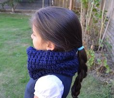 Kids Cowl Navy Blue Cowl Scarf Neck Warmer For Kids by FarahsAttic, $12.00