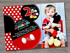 HUGE SELECTION Mickey Mouse Birthday Invitation - Red Yellow Mickey Mouse Birthday Party Invitations - Mickey Mouse Clubhouse Invitation on Etsy, $11.33 AUD