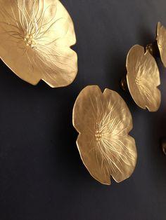 Décor mural en céramique doré grâces mur art sculpture Opulent