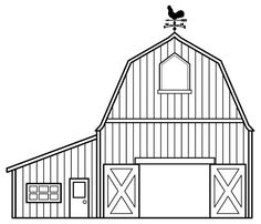 image detail for 27 barn coloring pages