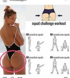 Squat Challenge Workout – – Yasmine L. Squat Challenge Workout – – Yasmine L. Summer Body Workouts, Gym Workout Tips, Squat Workout, At Home Workouts, Butt Workouts, Mini Workouts, Squat Exercise, Girl Workout, Curves Workout