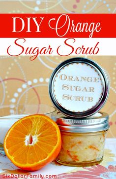 DIY Orange Sugar Scrub - Do you LOVE bath products? If so, you will LOVE this DIY Orange Sugar Scrub! All Natural, Energizing and so much cheaper than what you can buy! It's sure to become a favorite!