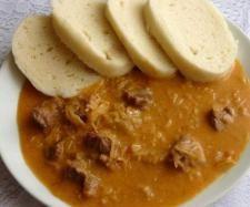 Segedínský guláš Kitchen Machine, Cheeseburger Chowder, Curry, Pork, Ethnic Recipes, Thumbnail Image, Thermomix, Kale Stir Fry, Curries