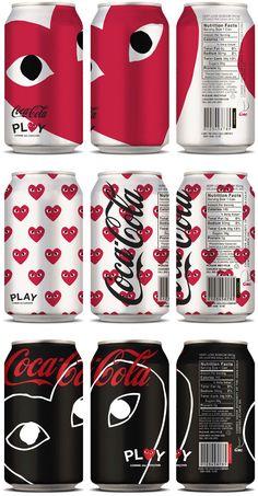 Coca-Cola x PLAY Comme des Garçons Packaging Concept