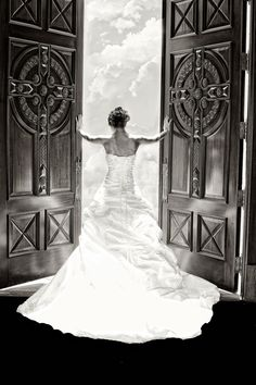 This is the most unique and stunning bride photo I've seen in a long time. Wow...