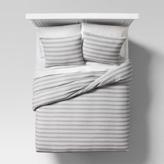 A quick and easy way to switch up your bedroom style: cover your duvet and pillows with a new pattern. The Abstract Stripe Duvet Cover Set from Project 62™ is the perfect neutral pattern, with a subtle woven texture. Colors will complement any existing decor, whether it's metal, furry or neon. The cotton covers will keep you cool year-round, but if you need a style change-up, throw them in the wash and try something new. <br><br>1962 was a big year. Modernist design h...
