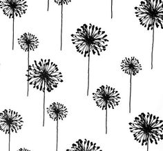 Pillow Cover 16 x 16  Black Dandelions by PillowCraze on Etsy, $29.99