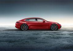 Vandaag is rood de kleur van een Porsche Panamera Turbo Executive Exclusive