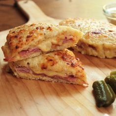 Food Nasty: A traditional French Bistro classic, a croquet monsieur. Ham, gruyere cheese, and Dijon.