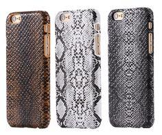 Voor iphone 6 7 6 s case sexy snake patroon pu lederen achterkant case voor apple iphone 7 6 6 s plus 6 7 telefoon accessoire beschermende