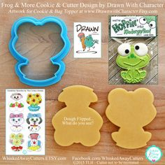 Frog and More Cookie Cutter and Fondant Cutter by Drawn with Character - **Guideline Sketches to Print Below**