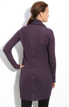 calvin klein ribbed button back cardigan, $39.97