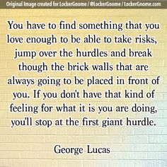 Do you love what you're doing enough, or did you stop at a giant hurdle?     Today's thought-provoking photo brought to you by the team who love what we're doing over at http://lockergnome.com